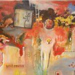 Bal des  esprits  Acrylique sur toile  150cm x 80cm