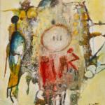 La civilisation de l'écriture Acrylique sur toile 40cm x 30cm