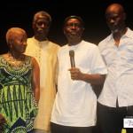 Angelique Kidjo, Sagbohan Danialou Djimon Houssou et Tola Koukoui a Cotonou pendant le Festival Cotonou Couleurs Jazz