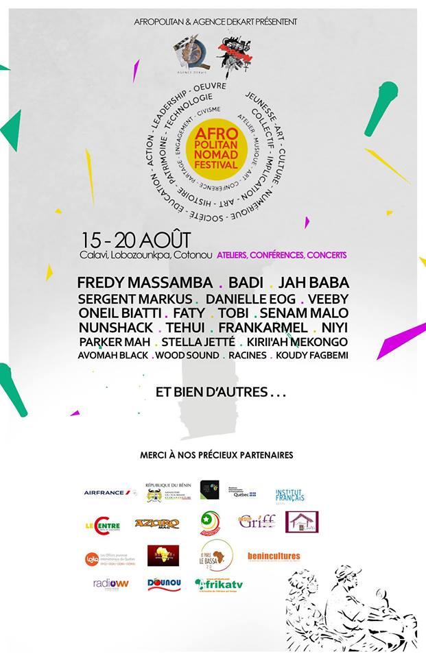 Festival: Agence DEKart et Afropolitan présente le Afropolitan Nomad Festival Cotonou 2016